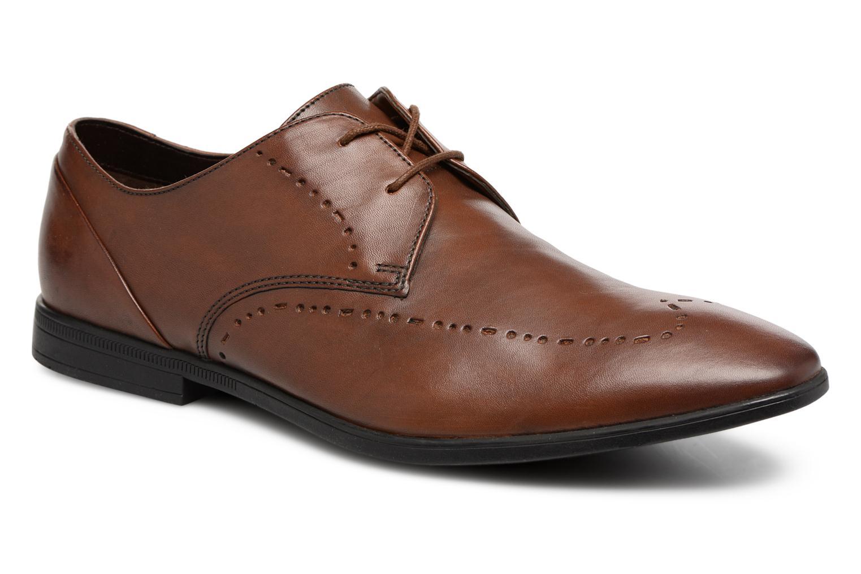 Chaussures à lacets Clarks Bampton Limit Marron vue détail/paire