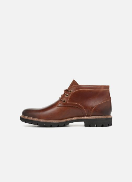 Lace-up shoes Clarks Batcombe Lo Brown front view