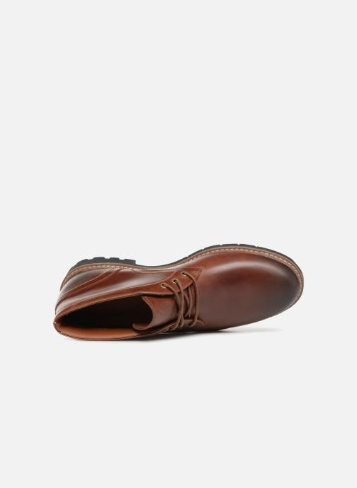 Lace-up shoes Clarks Batcombe Lo Brown view from the left