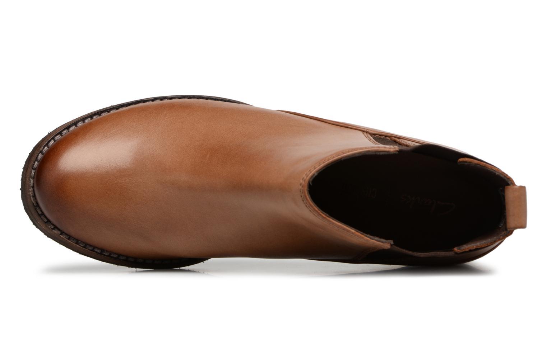 Bottines et boots Clarks Monica Pearl Marron vue gauche