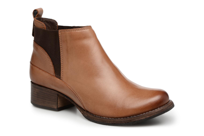 Bottines et boots Clarks Monica Pearl Marron vue détail/paire