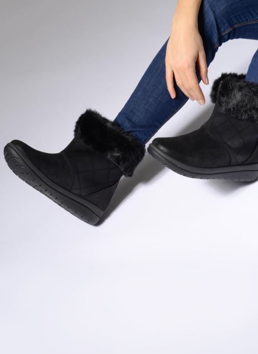 Ankle boots Clarks Cabrini Reef Grey view from underneath / model view
