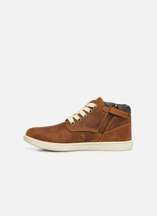 Lace-up shoes Timberland Groveton Leather Chukka Kids Brown front view