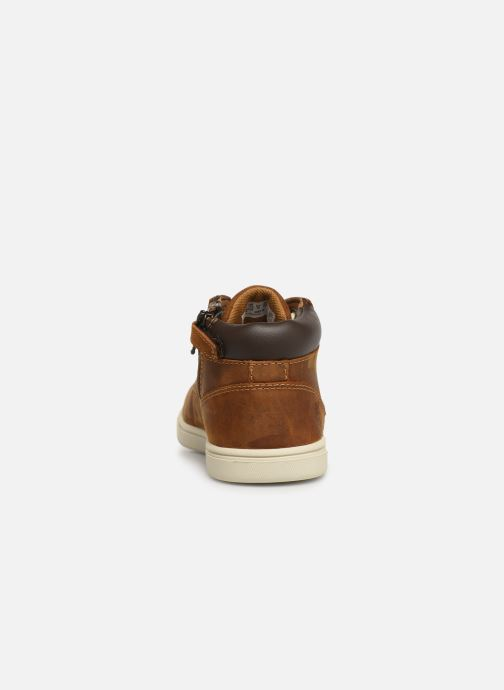 Chaussures à lacets Timberland Groveton Leather Chukka Kids Marron vue droite