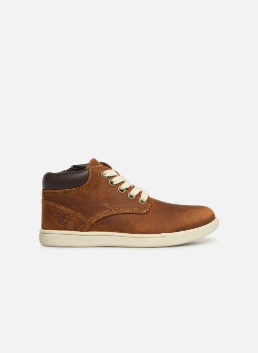 Lace-up shoes Timberland Groveton Leather Chukka Kids Brown back view