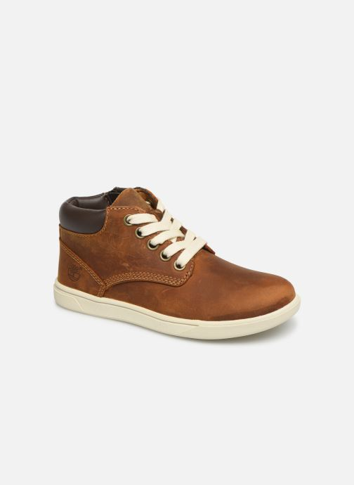 Lace-up shoes Timberland Groveton Leather Chukka Kids Brown detailed view/ Pair view