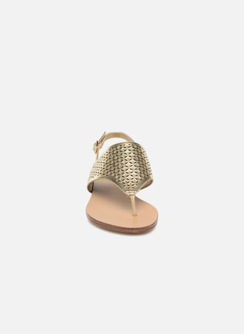 Sandales et nu-pieds Aldo UNULLA 82 Or et bronze vue portées chaussures