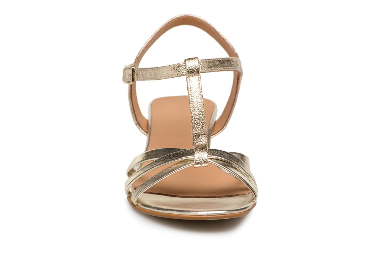 Sandales et nu-pieds Georgia Rose Luluana Or et bronze vue portées chaussures
