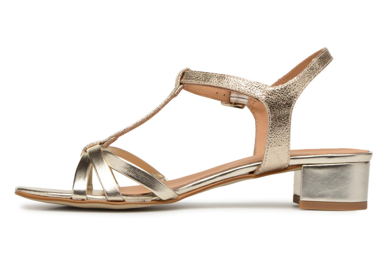 Sandales et nu-pieds Georgia Rose Luluana Or et bronze vue face