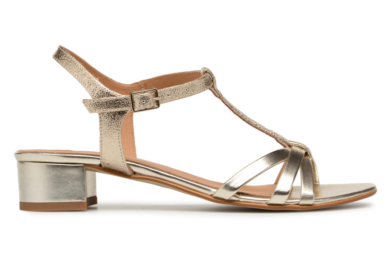Sandales et nu-pieds Georgia Rose Luluana Or et bronze vue derrière