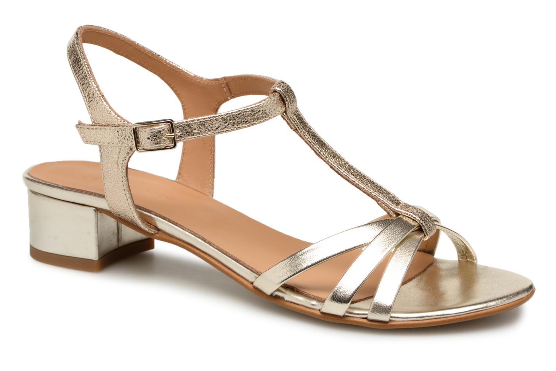Sandales et nu-pieds Georgia Rose Luluana Or et bronze vue détail/paire