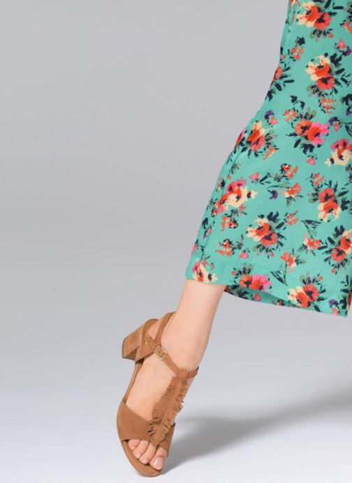 Sandales et nu-pieds Georgia Rose Lafoglia Marron vue bas / vue portée sac