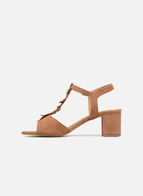 Sandales et nu-pieds Georgia Rose Lafoglia Marron vue face
