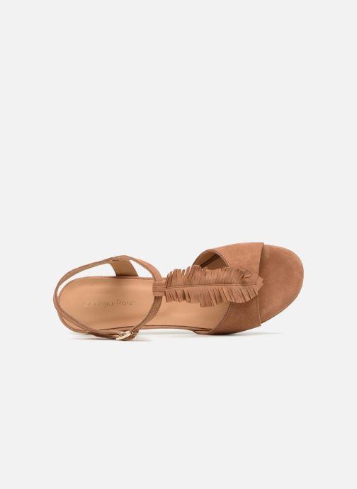 Sandales et nu-pieds Georgia Rose Lafoglia Marron vue gauche