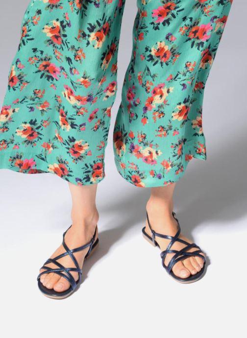 Sandales et nu-pieds Georgia Rose Luzaira Bleu vue bas / vue portée sac