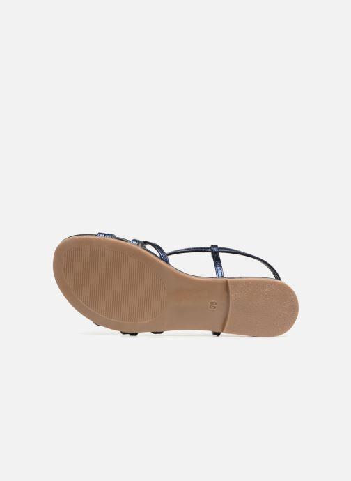 Sandales et nu-pieds Georgia Rose Luzaira Bleu vue haut