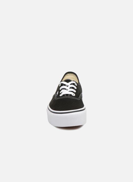 Sneaker Vans Authentic Platform 2.0 schwarz schuhe getragen