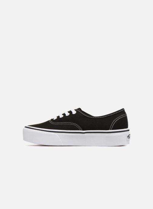 Sneaker Vans Authentic Platform 2.0 schwarz ansicht von vorne
