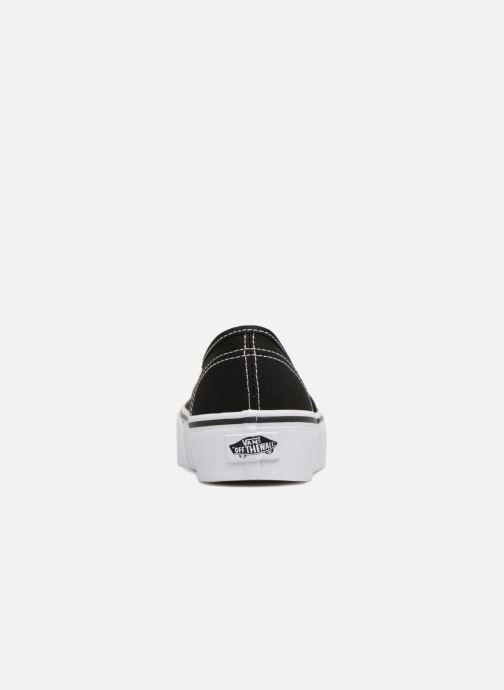Baskets Vans Authentic Platform 2.0 Noir vue droite