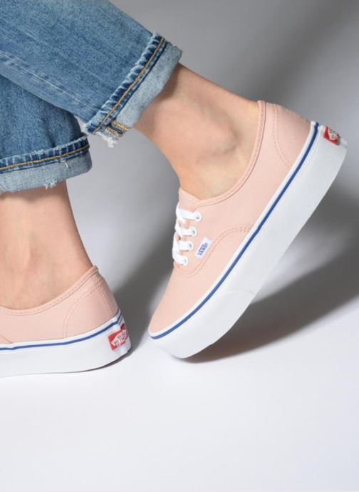 294377007a Trainers Vans UA Authentic Platform 2.0 Pink view from underneath   model  view