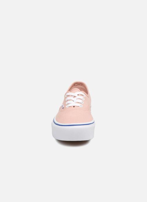 Baskets Vans UA Authentic Platform 2.0 Rose vue portées chaussures