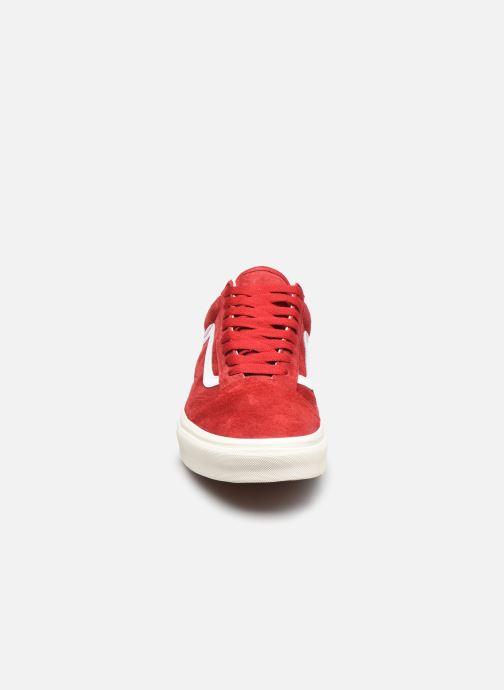 Sneaker Vans UA Old Skool rot schuhe getragen