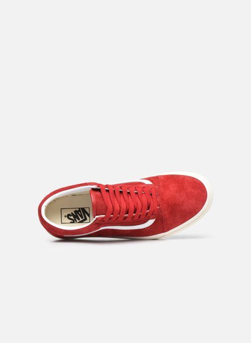 Sneaker Vans UA Old Skool rot ansicht von links