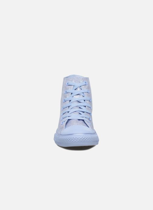 Baskets Converse Chuck Taylor All Star Hi Mono Shine Argent vue portées chaussures