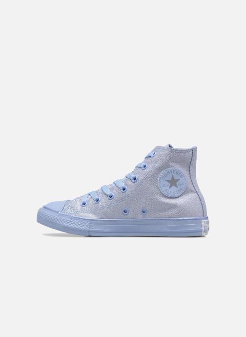 Baskets Converse Chuck Taylor All Star Hi Mono Shine Argent vue face