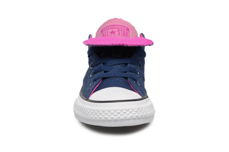 Baskets Converse Chuck Taylor All Star Double Tongue Ox Fundamentals Spring Bleu vue portées chaussures