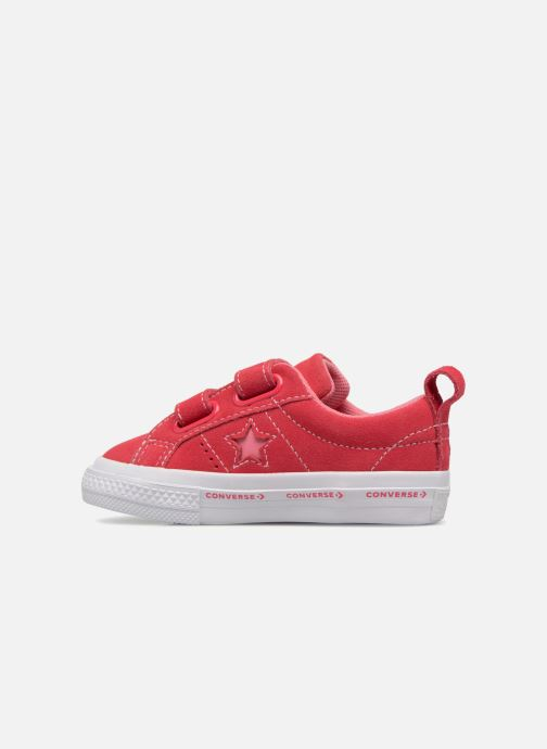 Sneakers Converse One Star 2V Ox Converse Wordmark Suede Roze voorkant