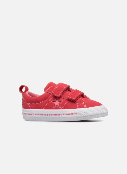 Sneakers Converse One Star 2V Ox Converse Wordmark Suede Roze achterkant