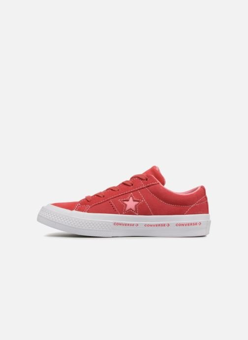 Baskets Converse One Star Ox Converse Wordmark Suede Rose vue face