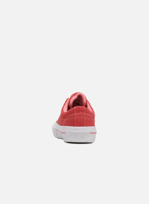 Baskets Converse One Star Ox Converse Wordmark Suede Rose vue droite