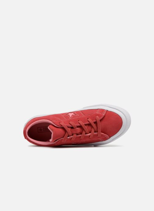 Trainers Converse One Star Ox Converse Wordmark Suede Pink view from the left
