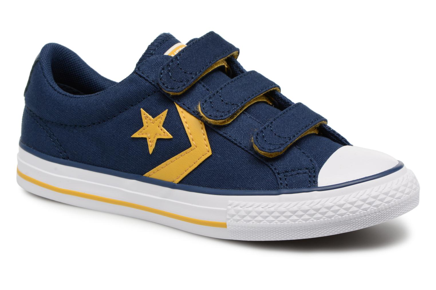 Baskets Converse Star Player EV 3V Ox Sport Canvas Bleu vue détail/paire