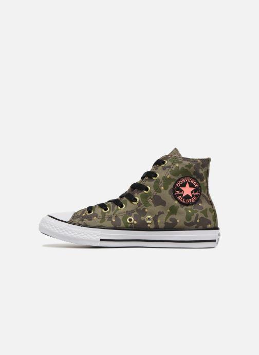 Sneakers Converse Chuck Taylor All Star Hi Camo Gold Star Groen voorkant