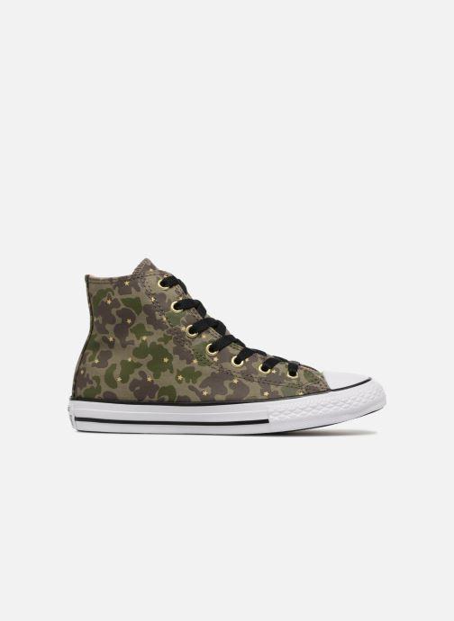 Sneakers Converse Chuck Taylor All Star Hi Camo Gold Star Groen achterkant
