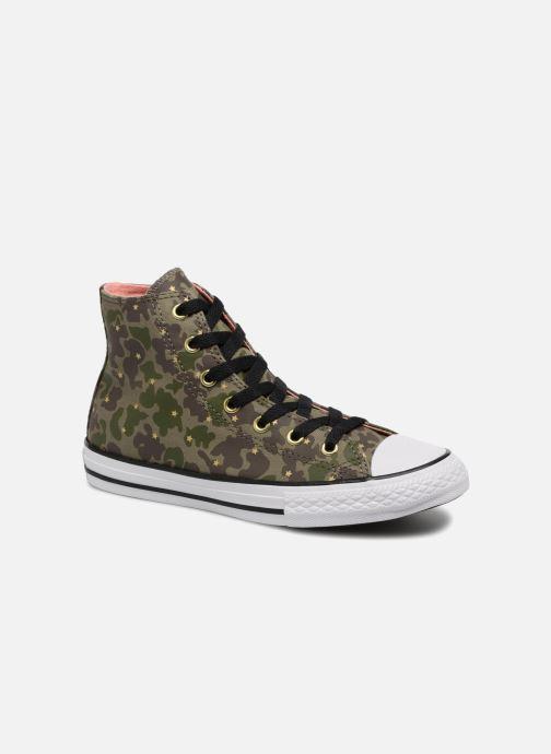Sneakers Converse Chuck Taylor All Star Hi Camo Gold Star Groen detail