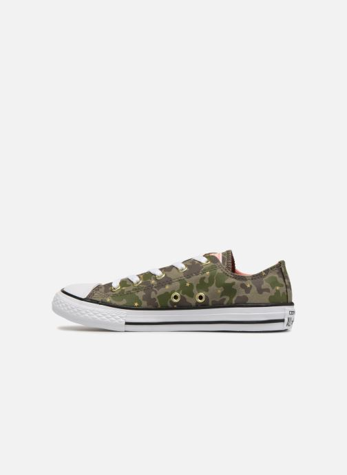 Trainers Converse Chuck Taylor All Star Ox Camo Gold Star Green front view