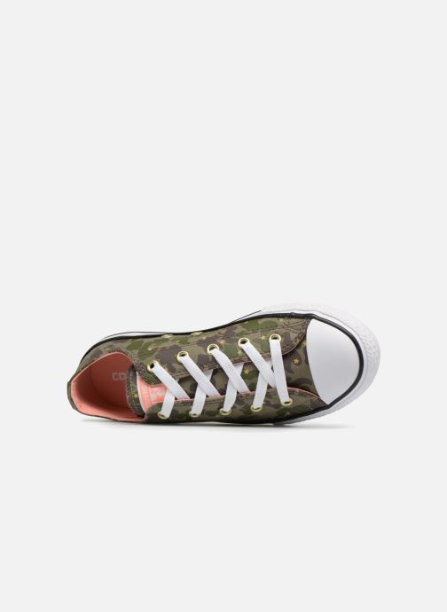 1f31689c9a Trainers Converse Chuck Taylor All Star Ox Camo Gold Star Green view from  the left
