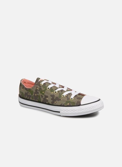 b8c499934951 Trainers Converse Chuck Taylor All Star Ox Camo Gold Star Green detailed  view  Pair view