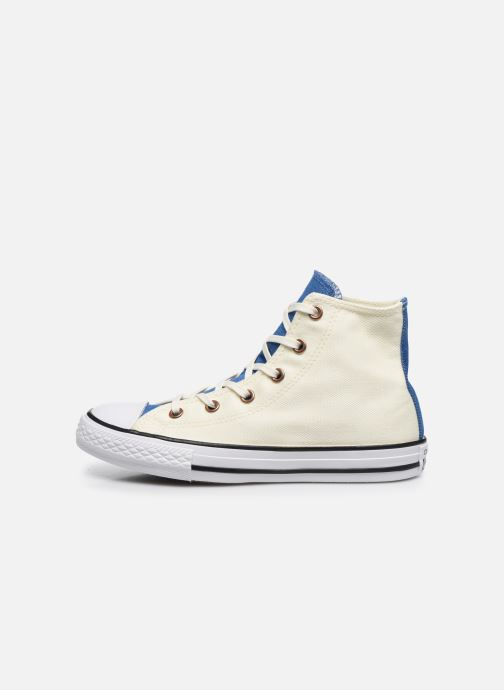 Baskets Converse Chuck Taylor All Star Hi Two Color Chambray Beige vue face
