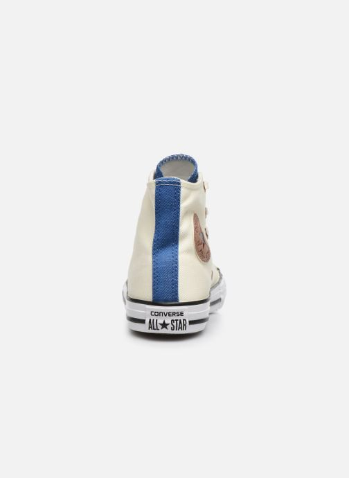 Baskets Converse Chuck Taylor All Star Hi Two Color Chambray Beige vue droite