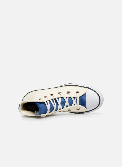 Baskets Converse Chuck Taylor All Star Hi Two Color Chambray Beige vue gauche