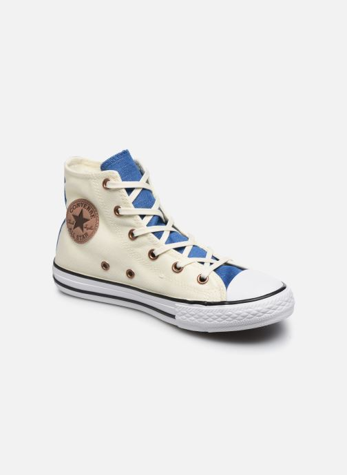 separation shoes 38b37 c0019 Baskets Converse Chuck Taylor All Star Hi Two Color Chambray Beige vue  détail paire