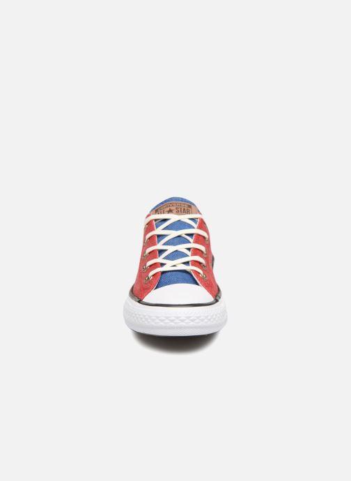 Sneakers Converse Chuck Taylor All Star Ox Two Color Chambray Röd bild av skorna på