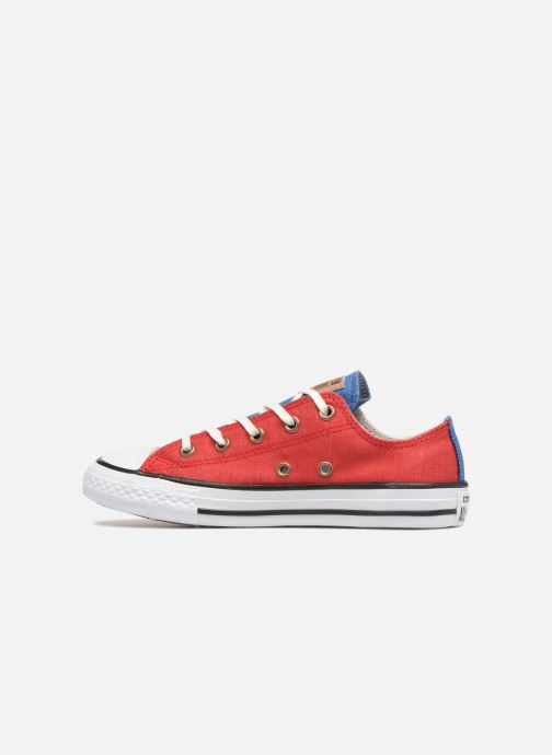 Baskets Converse Chuck Taylor All Star Ox Two Color Chambray Rouge vue face