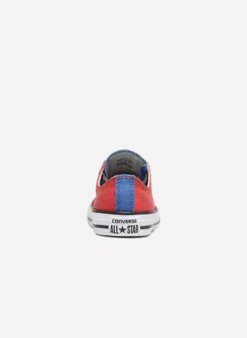 Sneakers Converse Chuck Taylor All Star Ox Two Color Chambray Röd Bild från höger sidan
