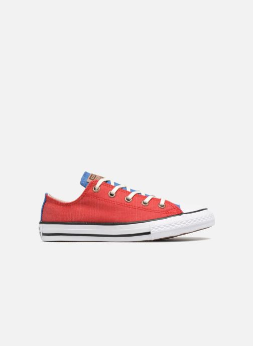 Baskets Converse Chuck Taylor All Star Ox Two Color Chambray Rouge vue derrière